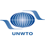 logo of unwto in blue consisted of the globe