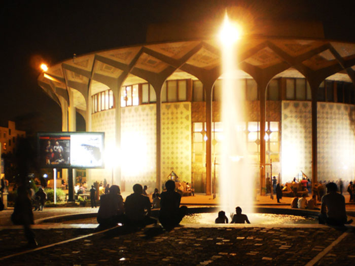 city theater building, tehran' main theater hall