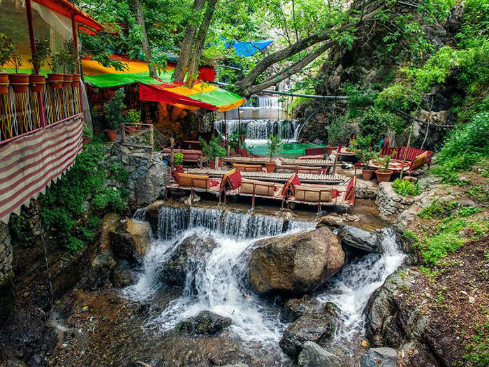 darband nature and river in tehran iran
