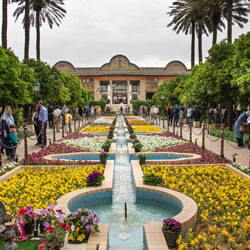tomb of Hafez in a rainy day shiraz