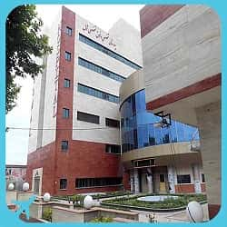 shomal hospital building and outer space