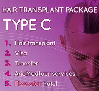 hair transplant package for a medical tour to Iran