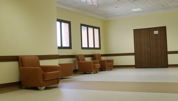 Waiting lounge Imam Reza hospital