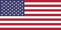 USA flag in white, red and blue colors