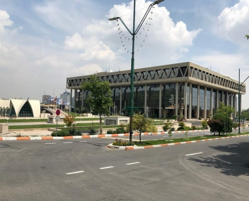 IRIB international conference center building and outer space for health tourism exhibition in Iran