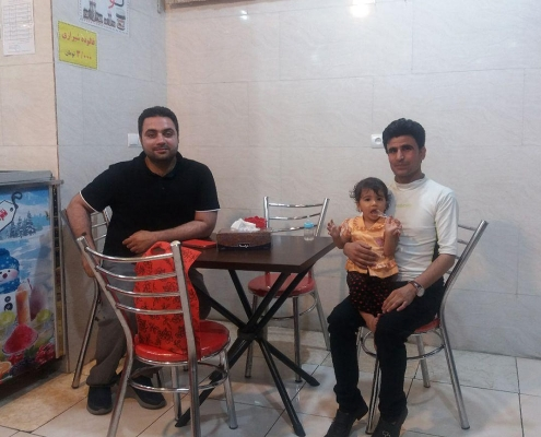 man from Afghanistan in ice cream shop iran