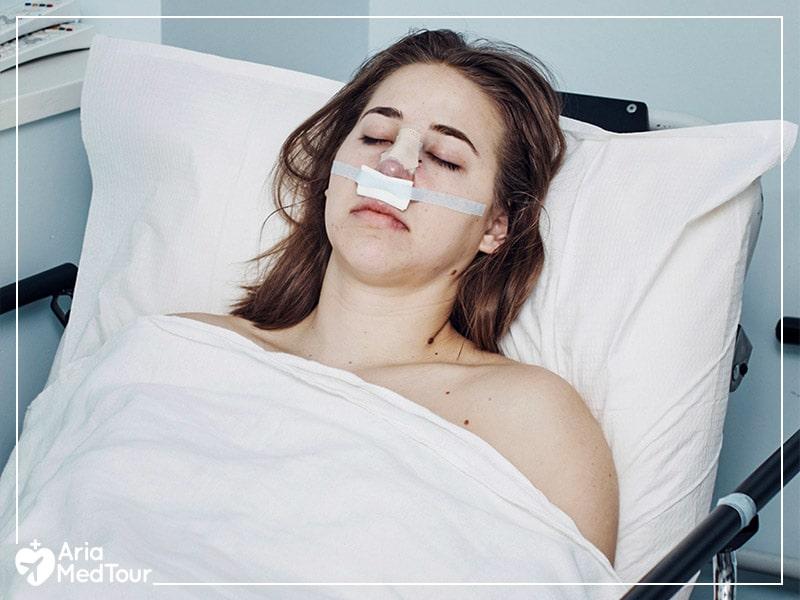 How to sleep after a nose job surgery
