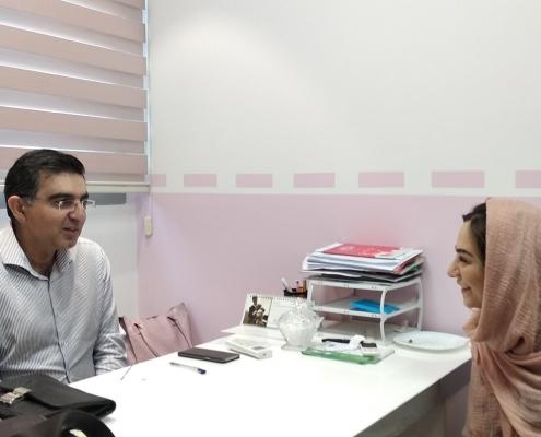 Dutch patient seeing her doctor in Tehran