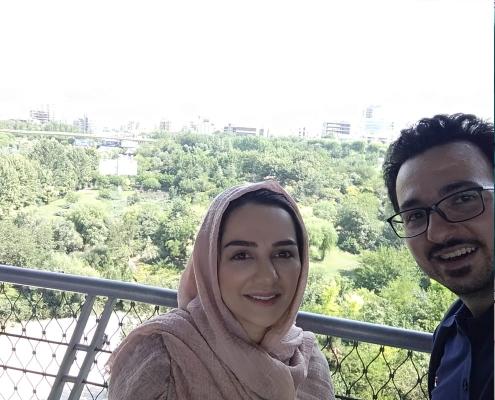 Dutch liposuction patient in Iran visiting Tehran's Tabi'at Bridge