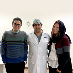 Italian medical tourist in Iran getting revision rhinoplasty with Iranian plastic surgeon