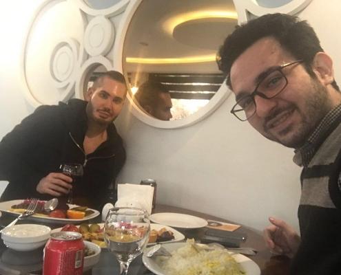 eating at restaurant in Iran