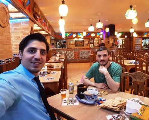 dizi in traditional restaurant in tehran