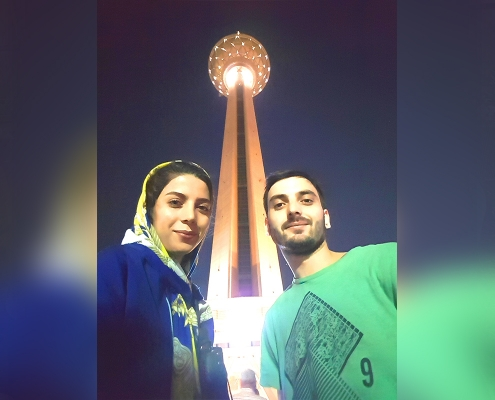 Selfie with Milad Tower