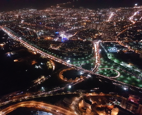 Night in Tehran from milad tower