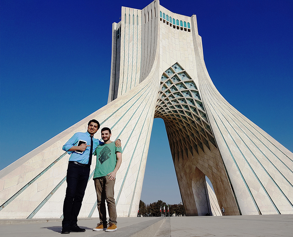 ariamedtour's guide and medical tourist in Azadi Tower Tehran