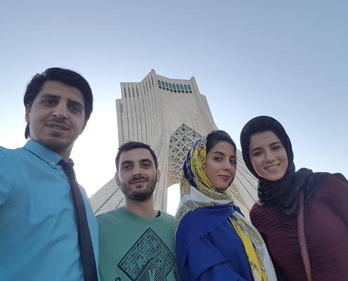 Selfie with Azadi Tower Tehran