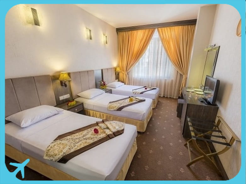 Sahand hotel's triple rooms