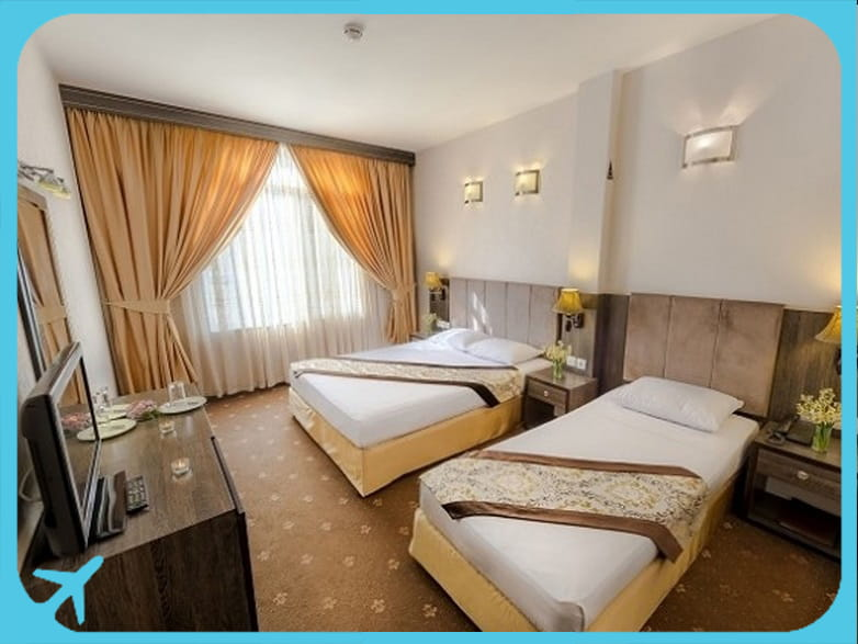 Sahand hotel's double rooms