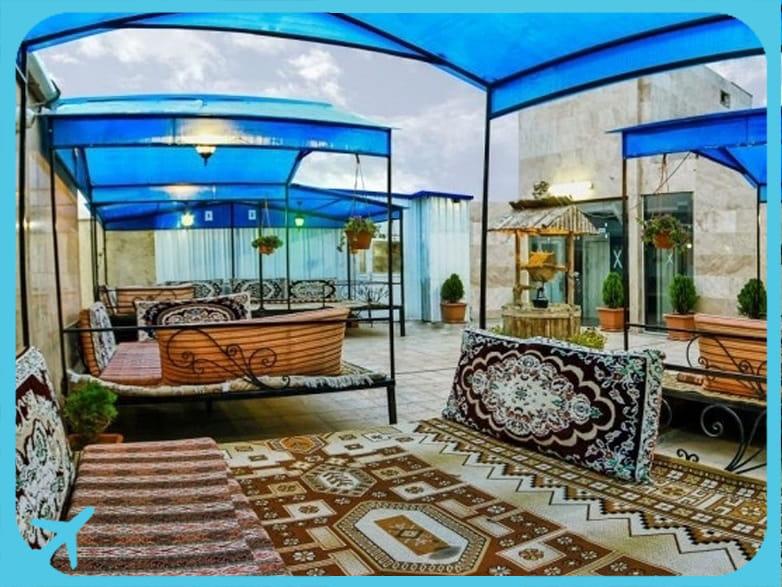 Sahand hotel's rooftop teahouse