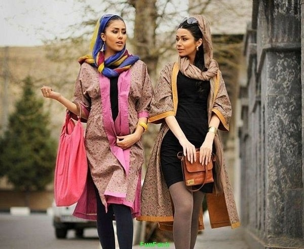 women clothes in streets of tehran iran
