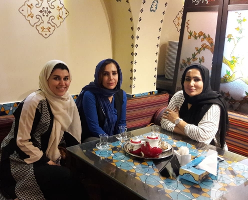 female medical tourist in Iran have fun time in Tehran