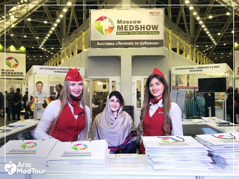 AriaMedTour's staff in Medshow event for medical tourism in Russia