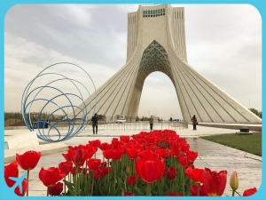 Tehran's major landmark Azadi Tower