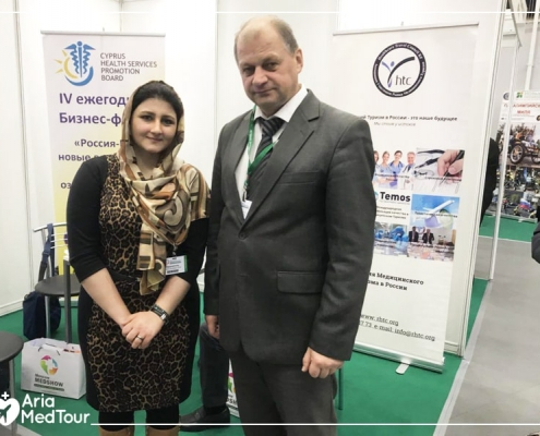 Ariamedtour's representative in Medshow exhibition
