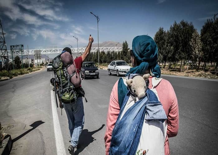 hitchhiking in iran roads, iran safety for male and female traveler