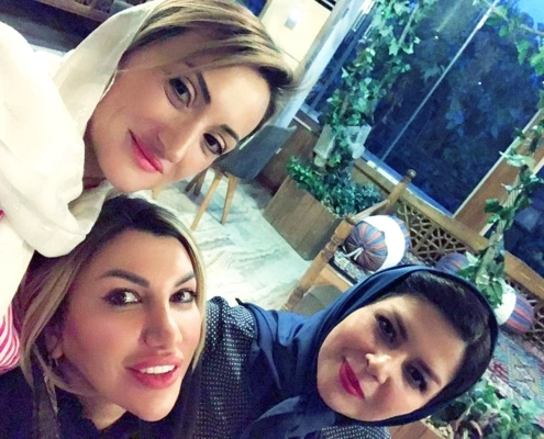 Romanian female travelers in tehran