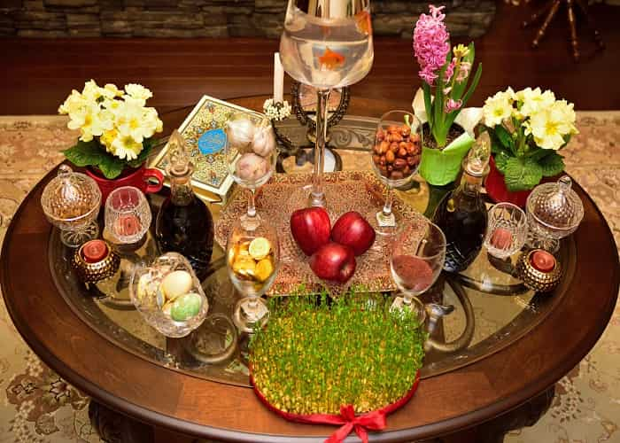 haft sin in nowruz, one of the iranian traditions for new year