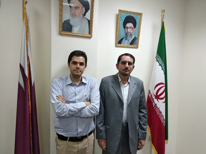 AriaMedTour in Iran Embassy in Qatar