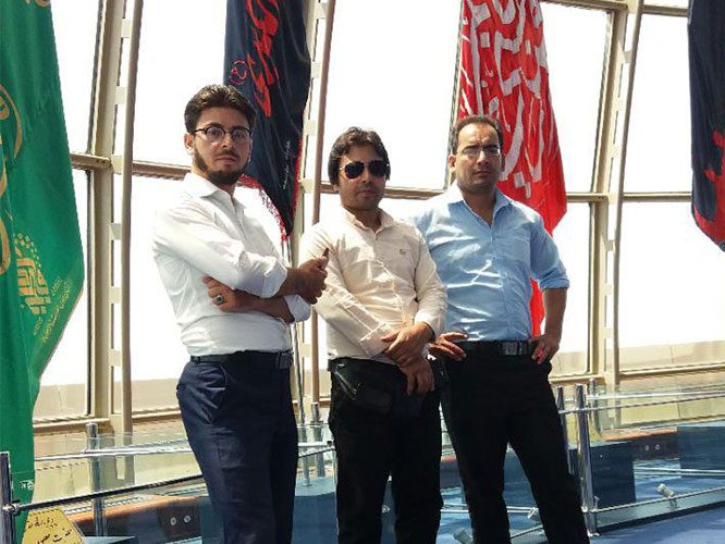 Afghan medical tourists in milad tower