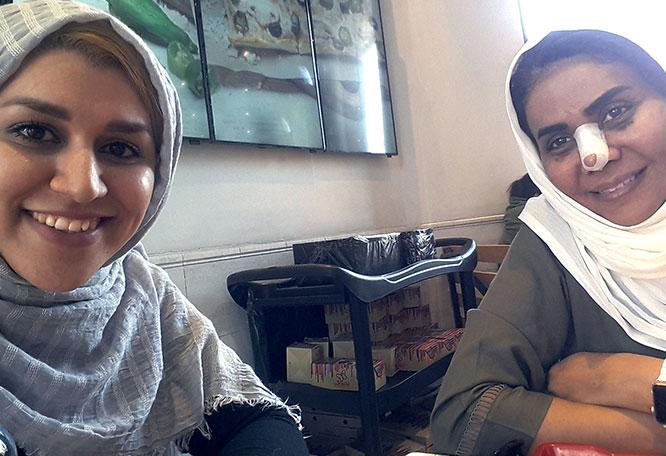 Omani rhinoplasty patient in Iran