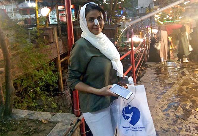 Omani rhinoplasty patient visiting tehran attractions