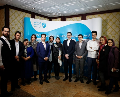 AriaMedTour's staff posing for a photo at the health tourism conference held at Espinas Palace Hotel