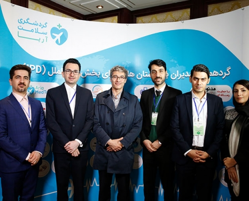 AriaMedTour's staff posing for a photo with Dr Saeed Hashemzadeh