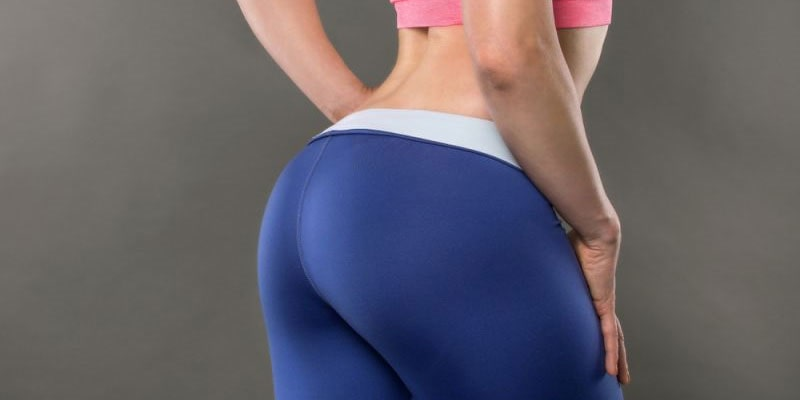 young woman with well-shaped buttocks