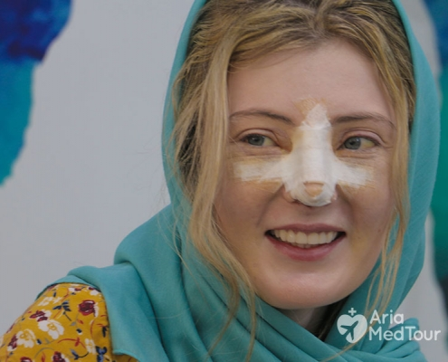 nose job patient of AriaMedTour happy after surgery