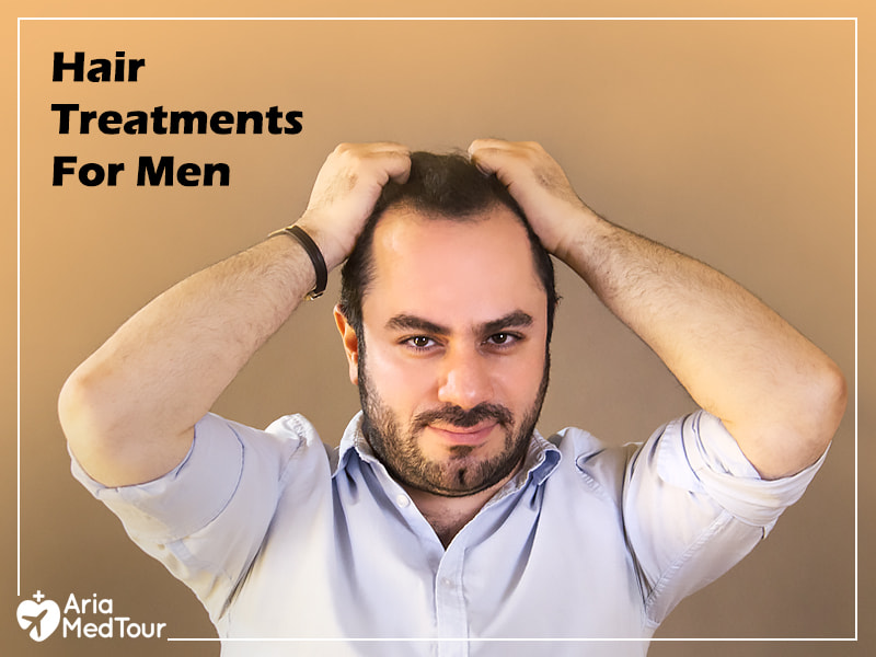 man grabbing his hair and looking for a hair loss treatment solution