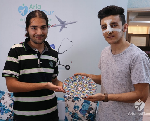 Azad Isaa after Nose Job Surgery in iran