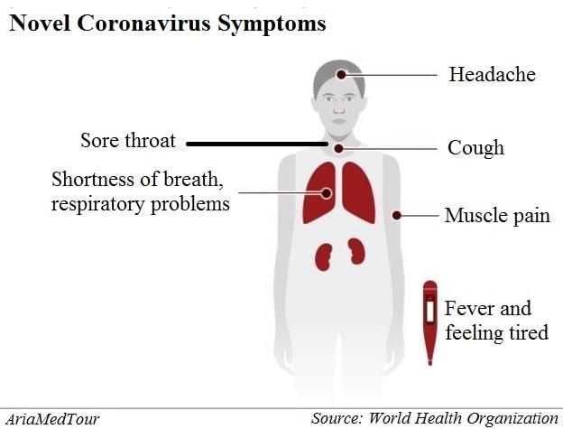 novel coronavirus (COVID-19) symptoms