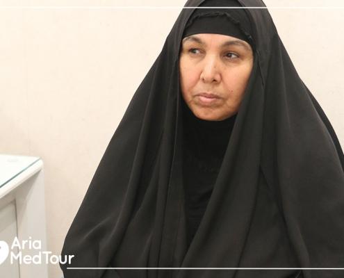 Halima had traveled to have orthopedic treatment in Iran
