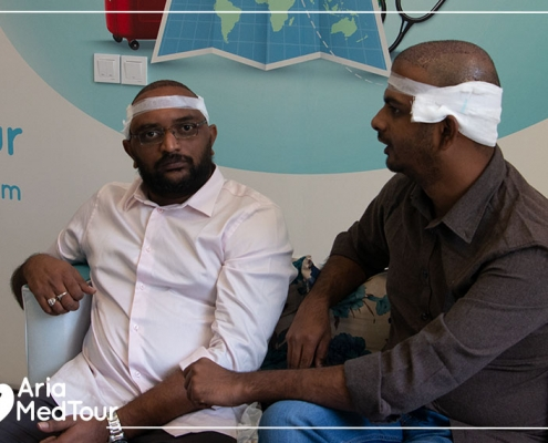 two Indian patients in Iran for having hair transplant with AriaMedTour