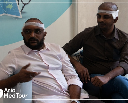 two Indian patients have had hair transplant in Iran with AriaMedTour
