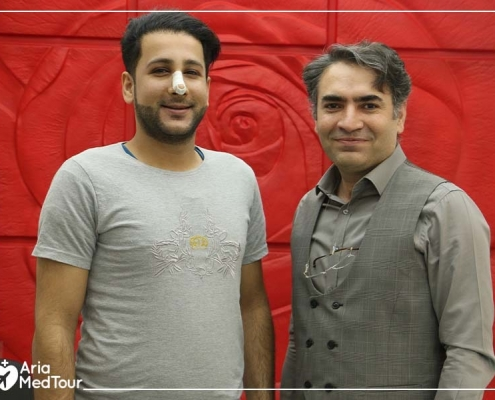 Bagher with his septoplasty surgeon in Tehran