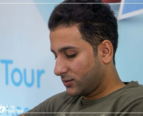 Bagher at AriaMedTour's to talk about his septoplasty experience in Iran