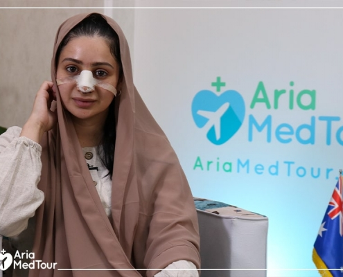 Magida talking about her revision rhinoplasty experience in Iran