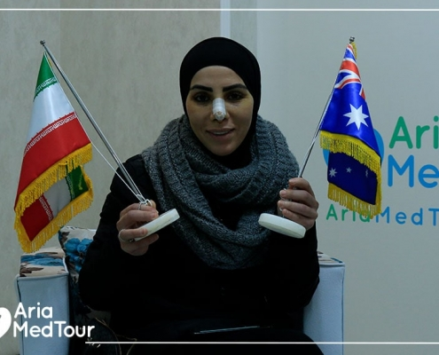 nose job and dental crown experience in Iran with AriaMedTour