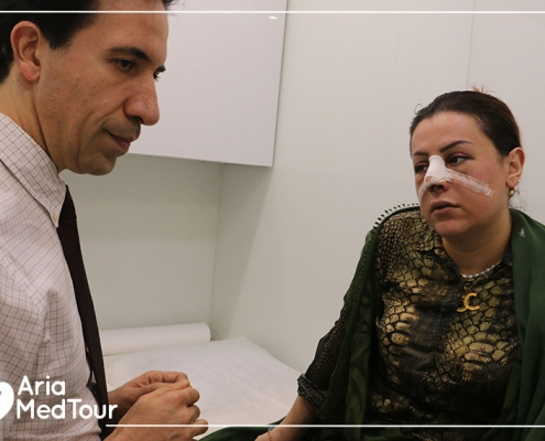 after nose job and septoplasty in Iran
